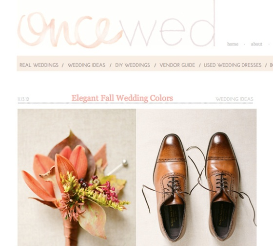 styling fall wedding colors